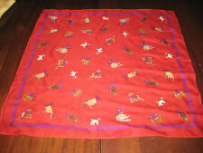 """Basha Scarves Cats and Kittens Polyester Scarf Wearing Purple 20"""" Square ON SALE"""