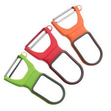 3Pcs Pelador de verduras cuchillas de acero inoxidable con asas Antideslizante