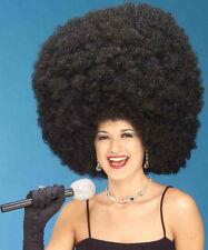 BLACK HUGE MEGA JUMBO AFRO FRO WIG 70'S DISCO FEVER OVERSIZED BIG AFRO WIG 57353