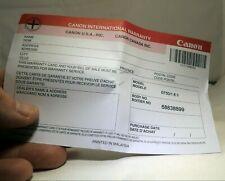 Vierge USA Garantie Carte Pour Canon 50mm f1.8 II Ef EOS Lentille