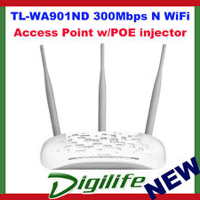 TP-LINK TL-WA901ND 300Mbps Wireless N Access Point, 3T3R, 2.4GHz, 802.11n/g/b