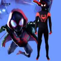 HZYM Spiderman Into the Spider-Verse Miles Morales Cosplay Costume Halloween