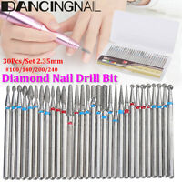 30Pcs/Set Diamond Nail Drill Bit For Art Nail Cuticle Manicure Pedicure