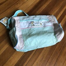 Vintage Precious Moments Baby Bag NEW-DEFECTS Cloth Diaper Bag & Changing Pad