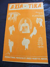 Partition Azia Tika Canziani Whist & Whisky 1961 Music Sheet