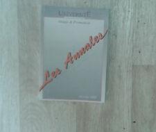 Université. Les Annales. Février 1995. Sciences économiques. 1ère année.