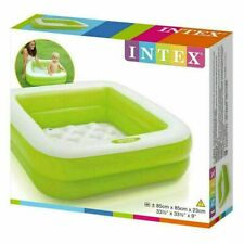 Inflatable Baby Green Bath Tub Inflate Pool Fun For Your Little Ones Square 85cm