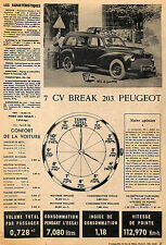 6 CV RENAULT BREAK JUVA, 7 CV PEUGEOT 203 BREAK ARTICLE DE PRESSE 1952