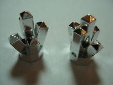 LEGO 2  New  Chrome Silver Rock 1 x 1 Crystal 5 Point  Aquazone: Stingrays  8-12