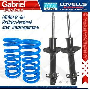 Front Gabriel Ultra Strut Shocks Lovells Springs For Subaru Leone GL AA4 AB2 AB4