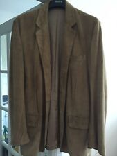 Banana Republic Mens Suede Leather Jacket/coat Size Large Stylish Arty