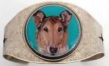 Smooth Collie Original Art Cuff Bracelet