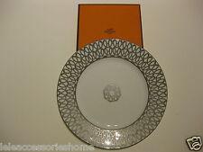 Piatto Frutta Hermes Porcellana Fil d'argent - Dessert Plate Hermes Fil d'argent