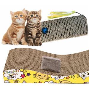 Pet Kitten Wall Cardboard Scratcher Cat Scratching Board Mat Sofa Bed Play Pads