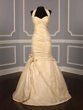 AUTHENTIC Ines Di Santo Suzcr Ivory Taffeta NEW Wedding Dress 10 RETURN POLICY