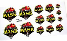 MASK stickers - KENNER M.A.S.K LOGO Stickers (14 IN TOTAL ON 1 SHEET)