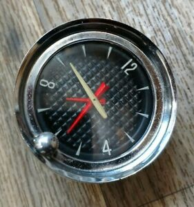 1957 Pontiac Clock, fully reconditioned Excellent! Running!