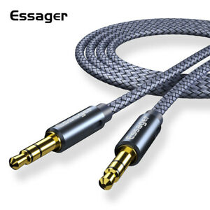 Essager 3.5mm Stereo Jack Audio Aux Braided Cable Male to Male. 0.5m - 5m