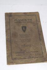 Original Vintage 1936 Chrysler Plymouth De Luxe & Business Operator's Manual