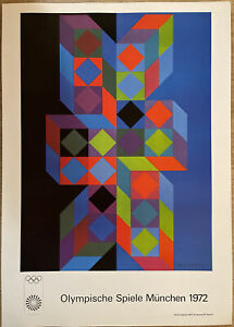 Victor Vasarely - Minchin Olympics 1972 Poster - Op Art Authorised Reproduction