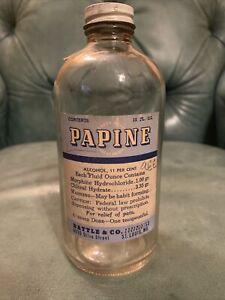 Rare Original Morphine Pharmacy Papine Poison Bottle