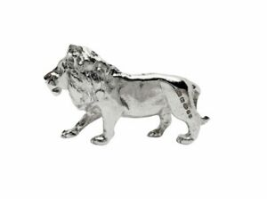 English Made, English Hallmarked, 925 Sterling Silver Lion Figure