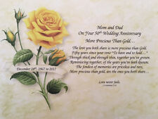 50th Anniversary Gift, 50 Year Wedding Anniversary Gift For Parents Grandparents