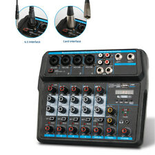 6Channel Professional Audio Mixer Sound Board DJ Mixing Console System Amplifier