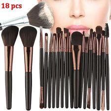 18pcs Kabuki Professional Make up Brush Brushes Set Makeup Foundation Blusher UK