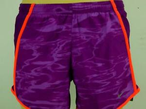 NWT$32 Nike Women Set The Pace Dri-Fit Running Shorts Inner Briefs Purple 638247