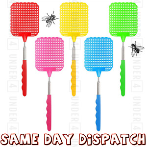 EXTENDABLE FLY SWATTER CATCHER TELESCOPIC INSECT SWAT BUG MOSQUITO WASP KILLER