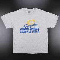 CHAMPION Eagles Track & Field Grey American Short Sleeve T-Shirt Mens L