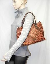 GHIBLI Vera Pelle Leather Woven Tote Satchel Shoulde Bag ITALY NWT falor falorni