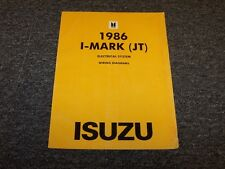 1986 Isuzu I-Mark Hatchback Electrical System Wiring Diagrams Manual Book RS S