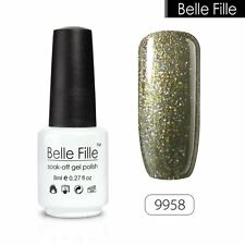 BELLE FILLE Candy Color Nail Gel Soak off UV LED Polish Base Top Coat Manicure