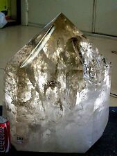 Quartz Crystal Point, Natural Smokey - with Natural Inclusions -162 pounds