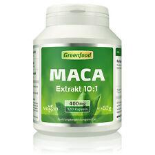 Greenfood Maca Extrakt (Hochland Maca), 400mg, hochdosiert, 120 Kapseln ? vegan