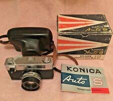New ListingKonica Auto S 35mm Rangefinder Film Camera w/ 47mm f1.9 Lens Usa + Manual & Box