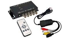 Premium 4-Channel Quad Video Switch With USB DVR