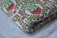 Sanganeri fabric 3 Yard cotton.Handmade voile hand.block Indian.natural Floral