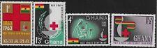Ghana Scott #139-42, Singles 1963 Complete Set FVF MH