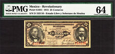 Mexico - Revolutionary Currency 25 Centavos 1915 Pick-S1041 CH UNC PMG 64