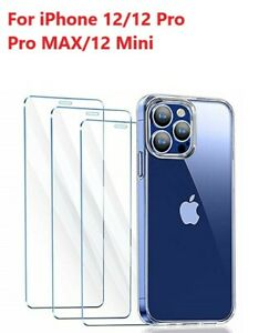 3 Pack For iPhone 12 Pro max mini iPhone 12 Pro Tempered Glass Screen Protector