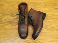 FRYE TYLER WOMENS LACE UP ANKLE LEATHER COGNAC BROWN BOOTS NWOB SIZE 7.5