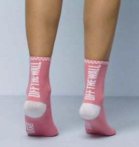 NWT Vans Ticker Off The Wall Crew Socks Womans Shoe Size 7-10 Pink