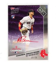 2017 Topps Now Andrew Benintendi RC Red Sox Postseason Autograph Card 16/25