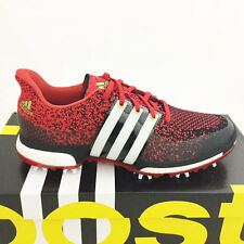 ADIDAS MEN'S TOUR 360 PRIME BOOST GOLF SHOES SIZE: 9 M RED/BLACK *SAMPLE* 17316