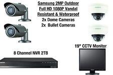 Samsung 4 Camera Outdoor Vandal-Resistant & Waterproof Dome & Bullet HD CCTV Kit