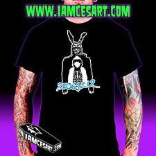 Frank the bunny n Donnie Darko Men's Tee 100% Cotton movie Time Travel iamcesart