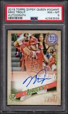 2018 Mike Trout Topps Gypsy Queen Autograph #GQA-MT Graded PSA 8 Near Mint-Mint